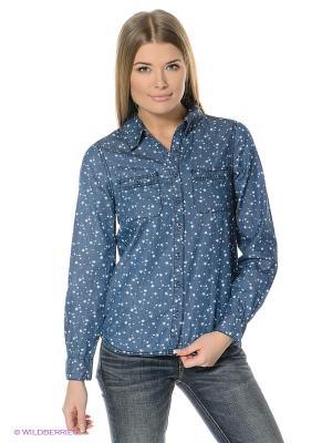 Рубашка OUTFITTERS NATION. Цвет: синий, белый