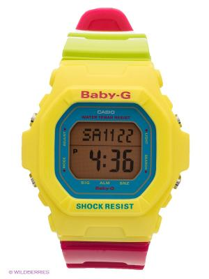Часы Baby-G BG-5607-9E CASIO. Цвет: желтый, зеленый, фуксия