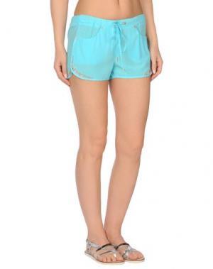 Пляжные брюки и шорты VDP BEACH. Цвет: лазурный