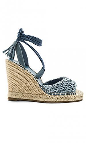 Обувь на танкетке kacy Joie. Цвет: синий