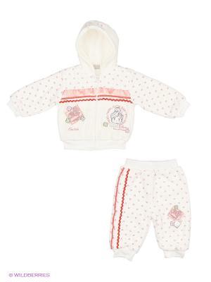Комплект: кофта на замке, с капюшоном; штанишки Bestido. Цвет: коралловый