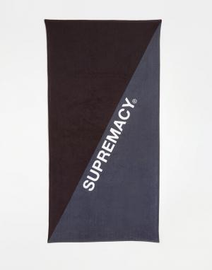 Supremacy Пляжное полотенце. Цвет: черный