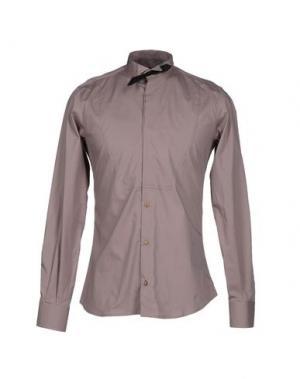 Pубашка MNML COUTURE. Цвет: голубиный серый