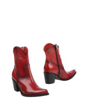 Полусапоги и высокие ботинки DONNA PIÙ. Цвет: кирпично-красный