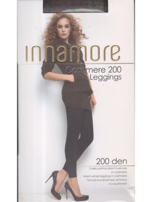 Леггинсы Cashmere Leggings 200 tortora melange Innamore. Цвет: серо-коричневый