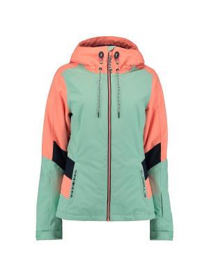 Куртка O'Neill. Цвет: салатовый, оранжевый