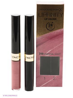 Стойкая губная помада и увлажняющий блеск Lipfinity Essential 310 тон MAX FACTOR. Цвет: розовый