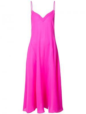 Длинная расклешенная комбинация Fleur Du Mal. Цвет: розовый и фиолетовый
