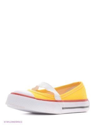 Балетки 4U. Цвет: желтый