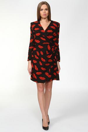 Платье Yves Saint Laurent. Цвет: черный, принт губы