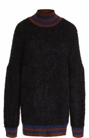 Свитер свободного кроя с высоким воротником By Malene Birger. Цвет: темно-синий