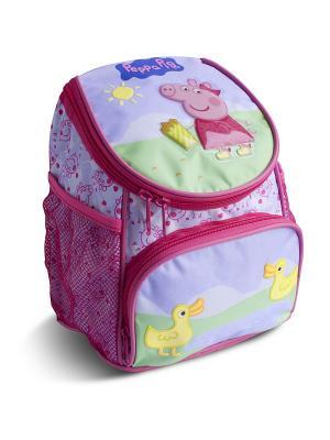 Рюкзачок увеличенный Свинка Пеппа Утка Peppa Pig. Цвет: сиреневый, розовый