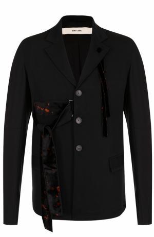 Шерстяной пиджак с декоративной отделкой Damir Doma. Цвет: черный