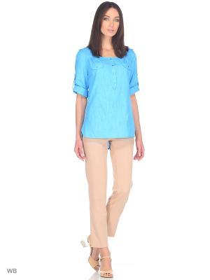 Блуза PRIZZARO. Цвет: бирюзовый