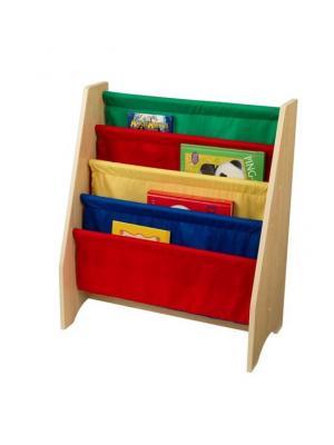 Эксклюзивный книжный шкаф Primary KidKraft. Цвет: синий, желтый, красный