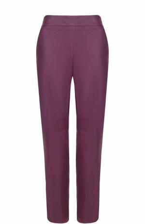 Кожаные брюки с карманами Escada. Цвет: лиловый