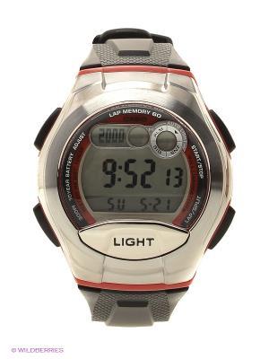 Часы Casio W-752-4B. Цвет: серебристый, красный
