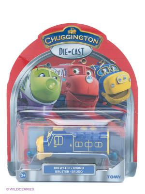 Паровозик Брюстер Chuggington. Цвет: синий, желтый