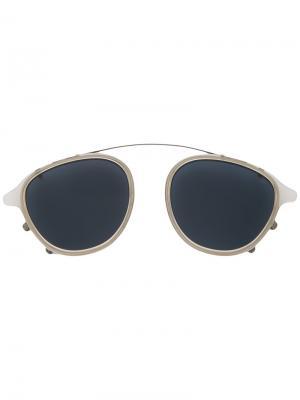 Солнцезащитные очки 137 на переносицу Eyevan7285. Цвет: металлический