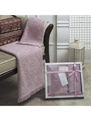 Esra (пепел.роз) 50x90-70х140 Комп. полотенец Sofi de Marko. Цвет: розовый