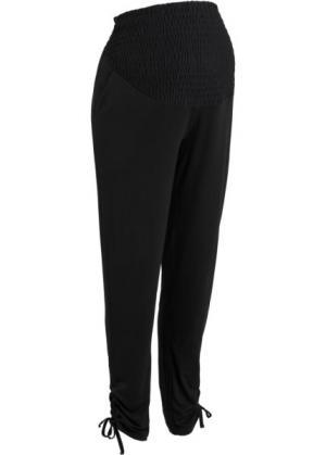 Мода для беременных: брюки-стретч (черный) bonprix. Цвет: черный