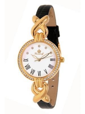 Часы наручные Romanoff. Цвет: черный, белый, золотистый