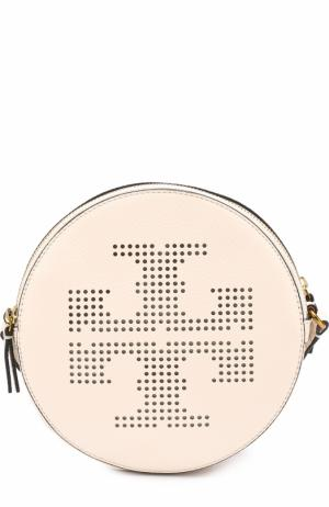 Сумка Perforated-Logo Tory Burch. Цвет: белый