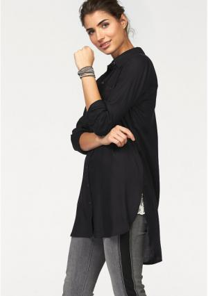 Удлиненная блузка BOYSENS BOYSEN'S. Цвет: белый, черный