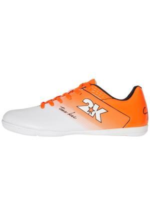 Бутсы футзальные Santos 2K. Цвет: белый, оранжевый