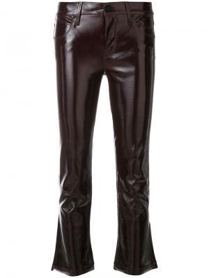 Укороченные брюки слим Rta. Цвет: красный