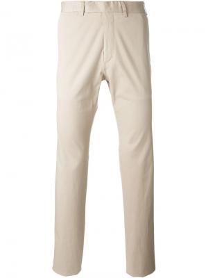 Классические брюки Fashion Clinic Timeless. Цвет: телесный