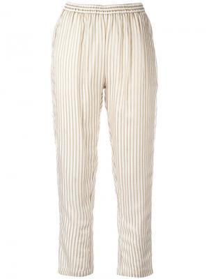 Укороченные брюки Mes Demoiselles. Цвет: белый