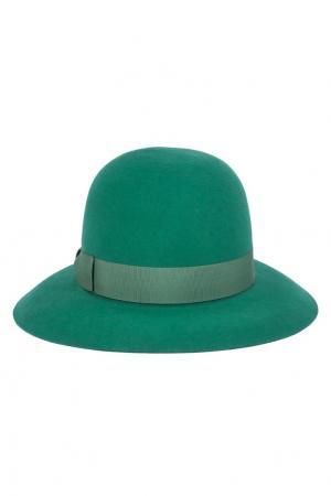 Фетровая шляпа с лентой Borsalino. Цвет: зеленый