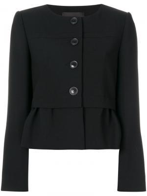 Пиджак с оборкой Steffen Schraut. Цвет: чёрный