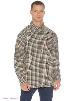 Рубашка Columbia. Цвет: коричневый