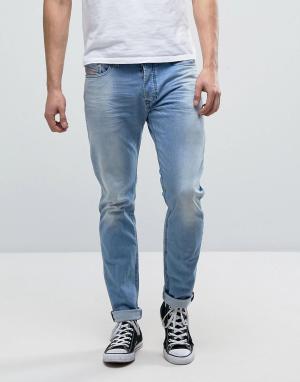 Diesel Выбеленные джинсы скинни 084CU. Цвет: синий