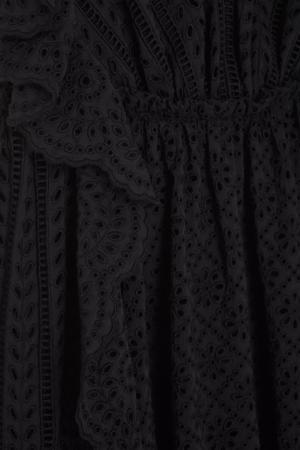 Хлопковое платье Philosophy Di Lorenzo Serafini. Цвет: черный