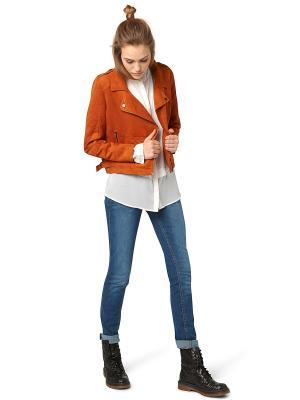 Куртка TOM TAILOR. Цвет: рыжий