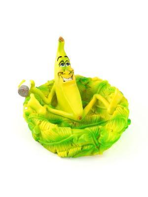 Пепельница Банан Русские подарки. Цвет: салатовый, желтый