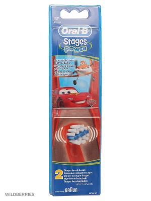 Сменные насадки ORAL-B Stages Kids 2шт для электрических зубных щеток ORAL_B. Цвет: красный