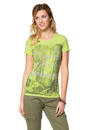 Кофточка CHEER. Цвет: цвет белой шерсти/лиловый/зеленый/коричневый с рисунком, цвет лайма с рисунком
