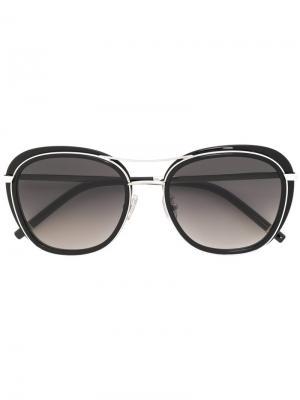 Массивные солнцезащитные очки Boucheron. Цвет: чёрный