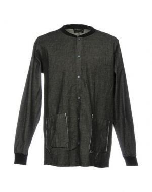 Джинсовая рубашка PRIMO EMPORIO. Цвет: черный