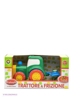 Трактор с прицепом Globo. Цвет: желтый, зеленый, красный