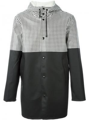 Пальто с капюшоном Stutterheim. Цвет: чёрный