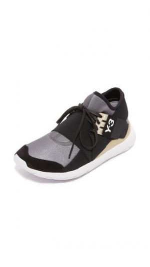 Кроссовки для бега со шнуровкой  Qasa Elle Y-3. Цвет: ночной металлизированный/черный/полночный