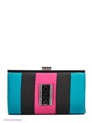 Клатч Fabretti. Цвет: синий, розовый, черный