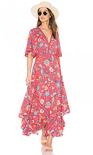 Вечернее платье half moon Spell & The Gypsy Collective. Цвет: красный