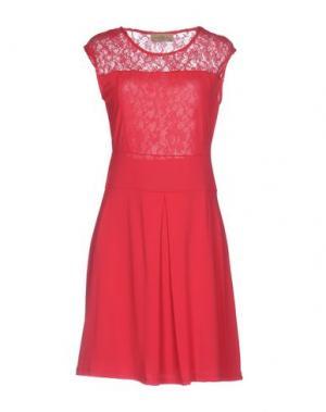 Короткое платье JUST FOR YOU. Цвет: фуксия