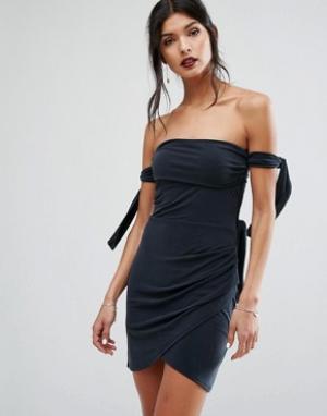 Bec & Bridge Платье мини Titania. Цвет: черный